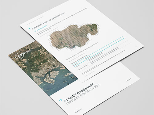 Planet Basemaps Product Specification